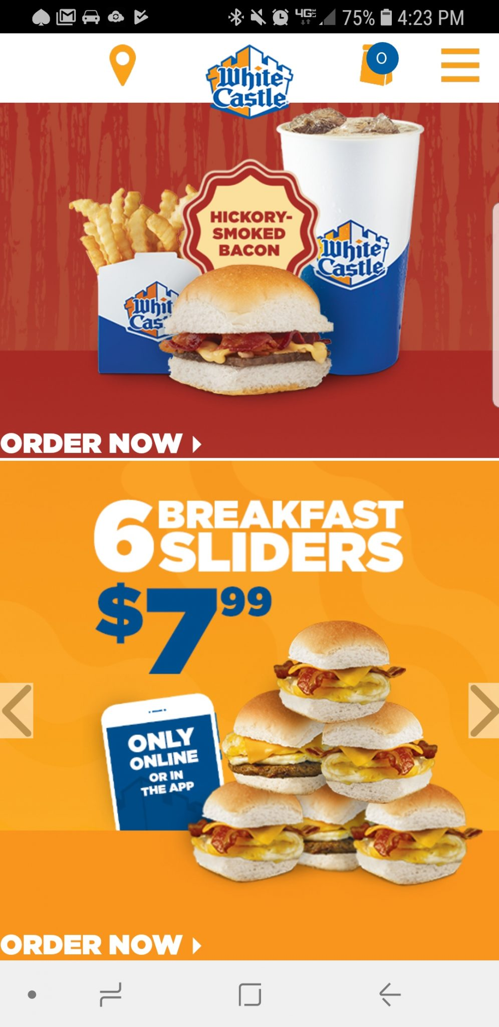 White Castle Breakfast Slider Deal