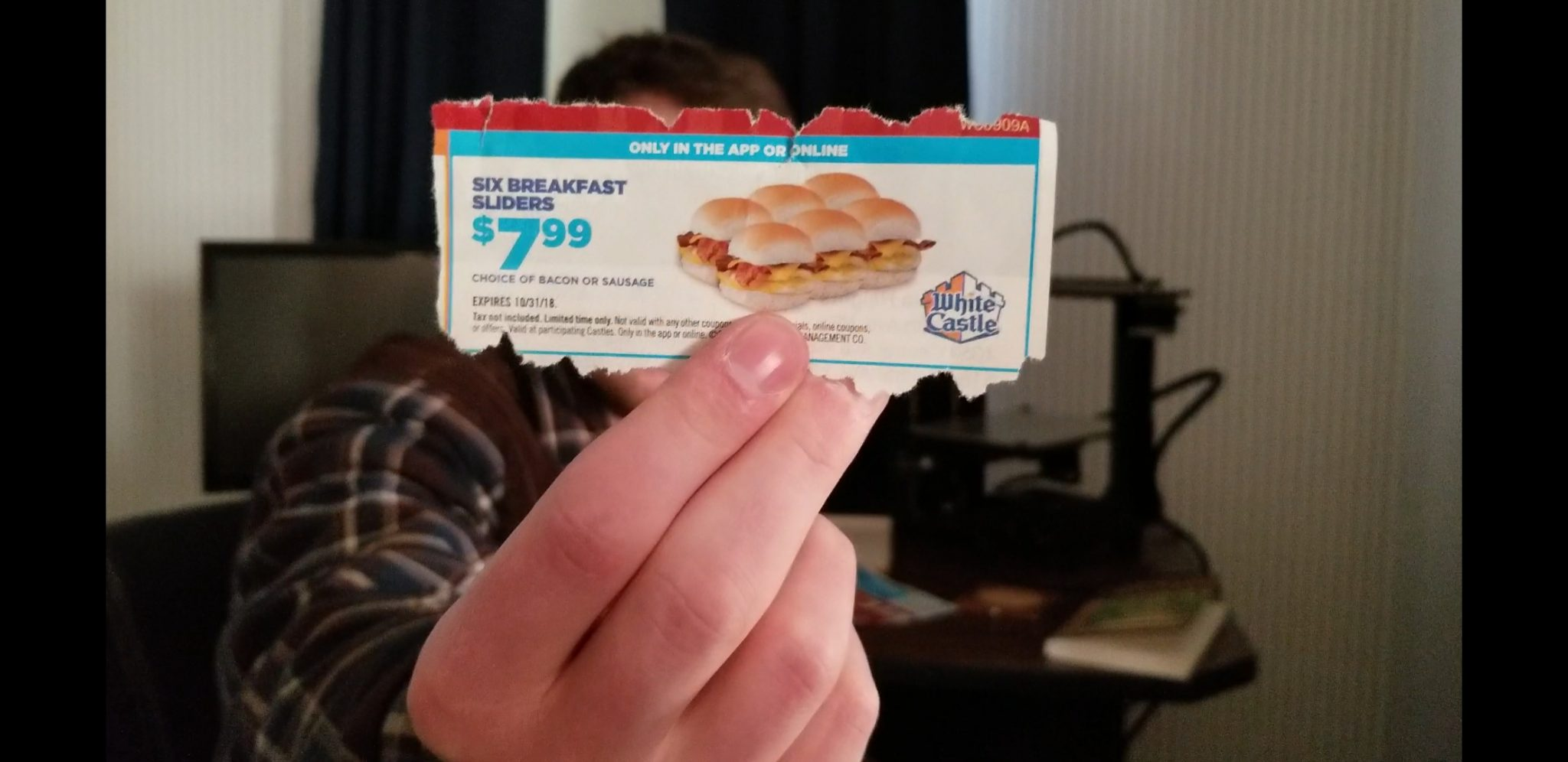 White Castle 6 Slider App Deal Coupon