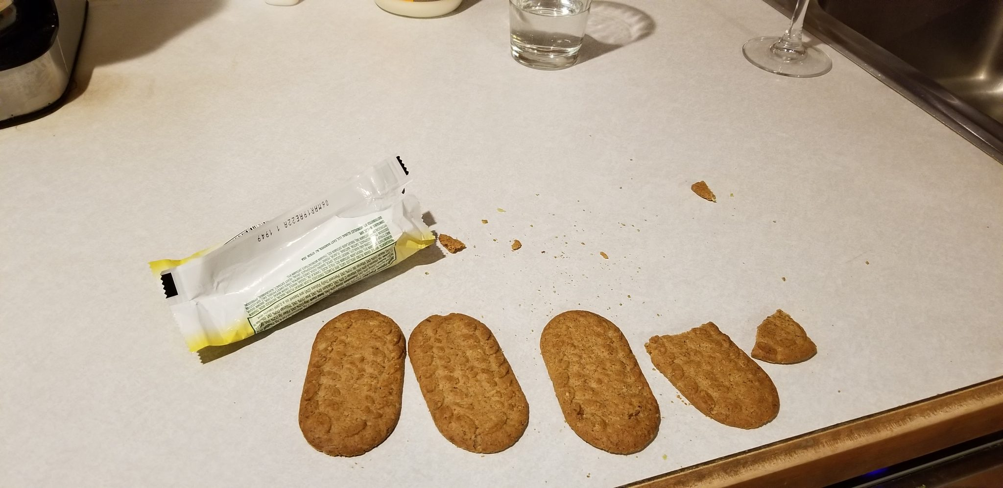 BelVita Pumpkin Spice Biscuits Laid Out on Counter