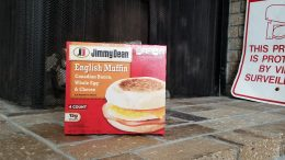 Picture of a box of Jimmy Dean's English Muffin Whole Egg and Cheese
