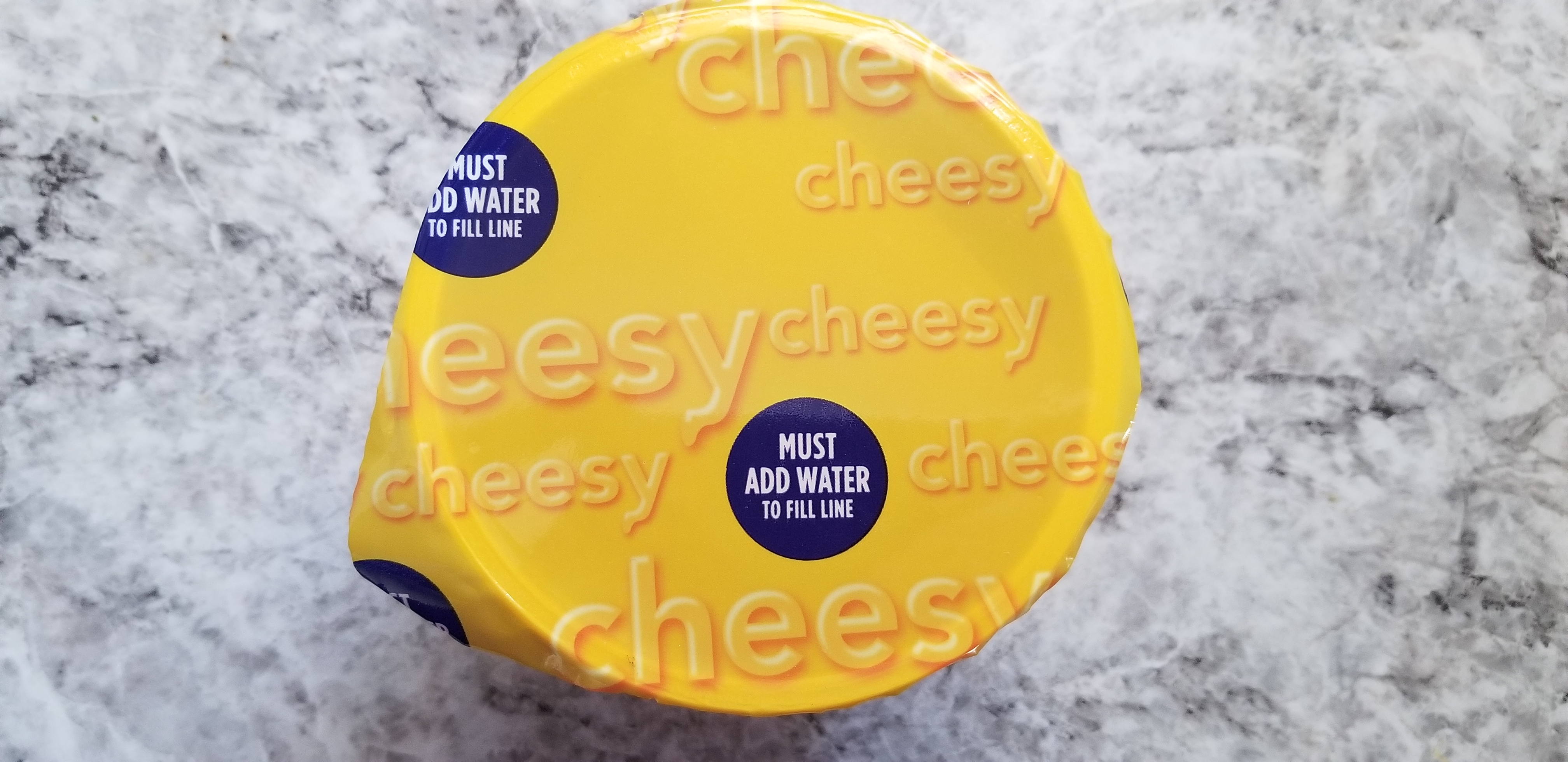 Kraft Easy Macaroni & Cheese Top of container