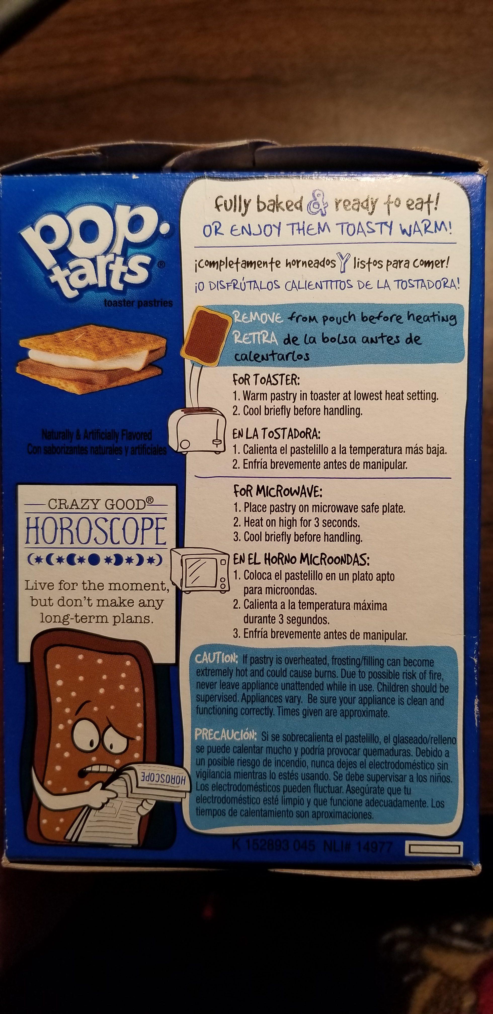 S'mores Pop-Tarts Ingredients