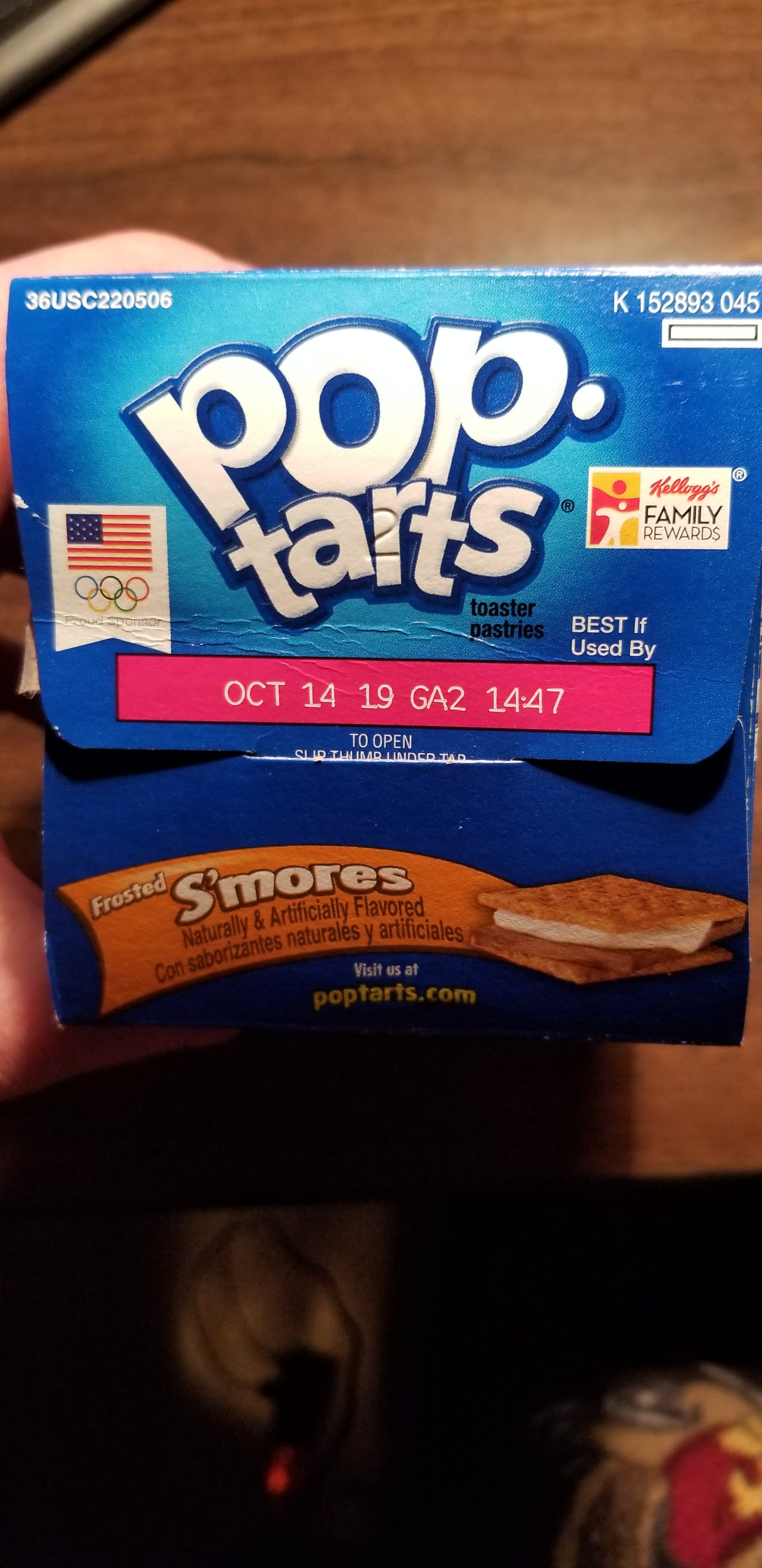 S'mores Pop-Tarts Top of the box