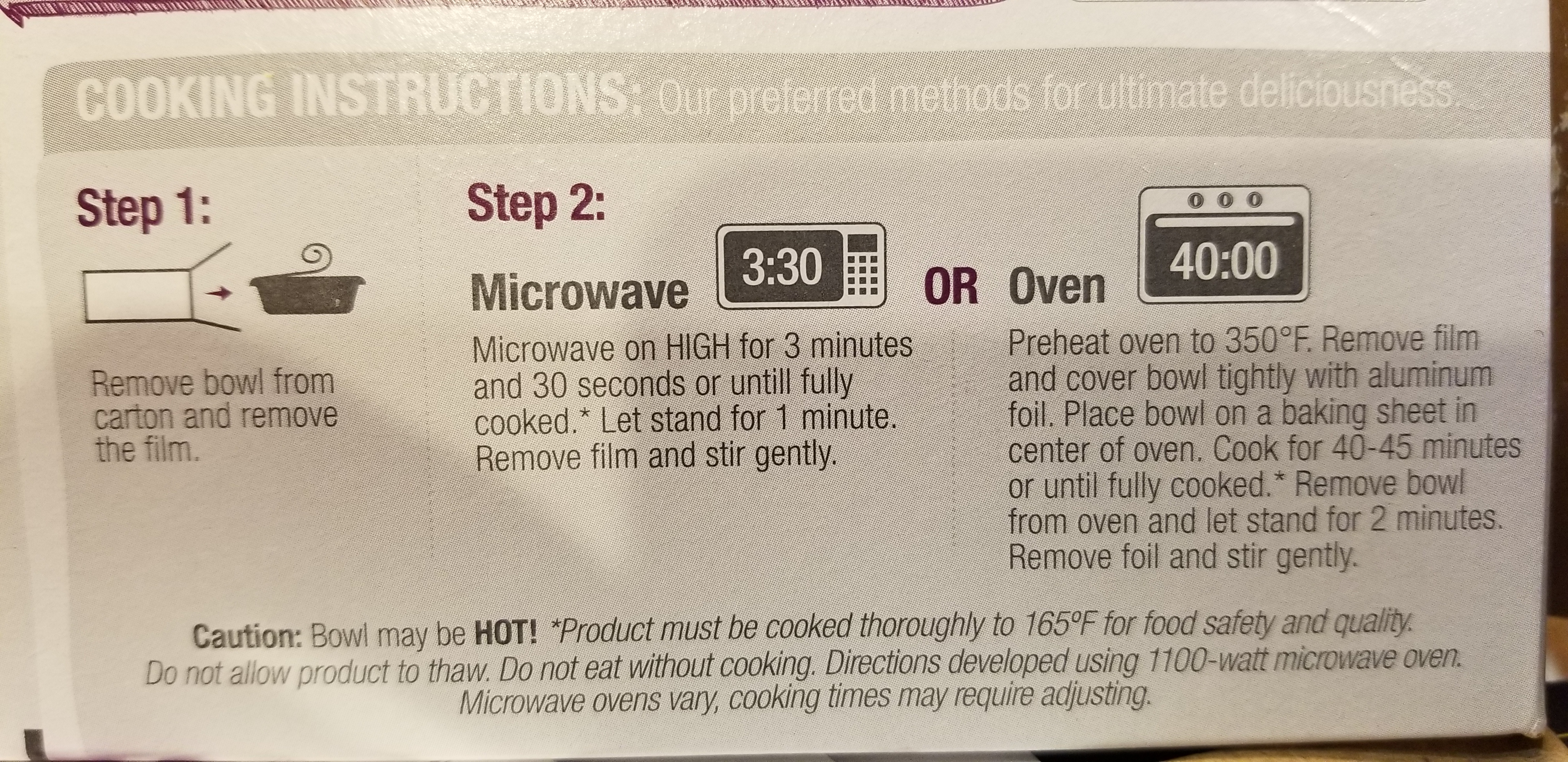 evol. Truffle Parmesan Mac & Cheese Cooking Instructions