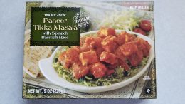 Trader Joe's Tikka Masala with Spinach Basmati Rice packaging