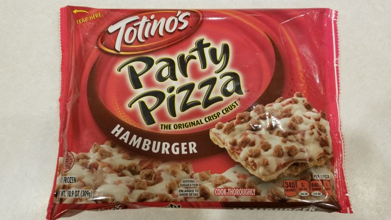 Totino's Party Pizza Hamburger Square Packaging