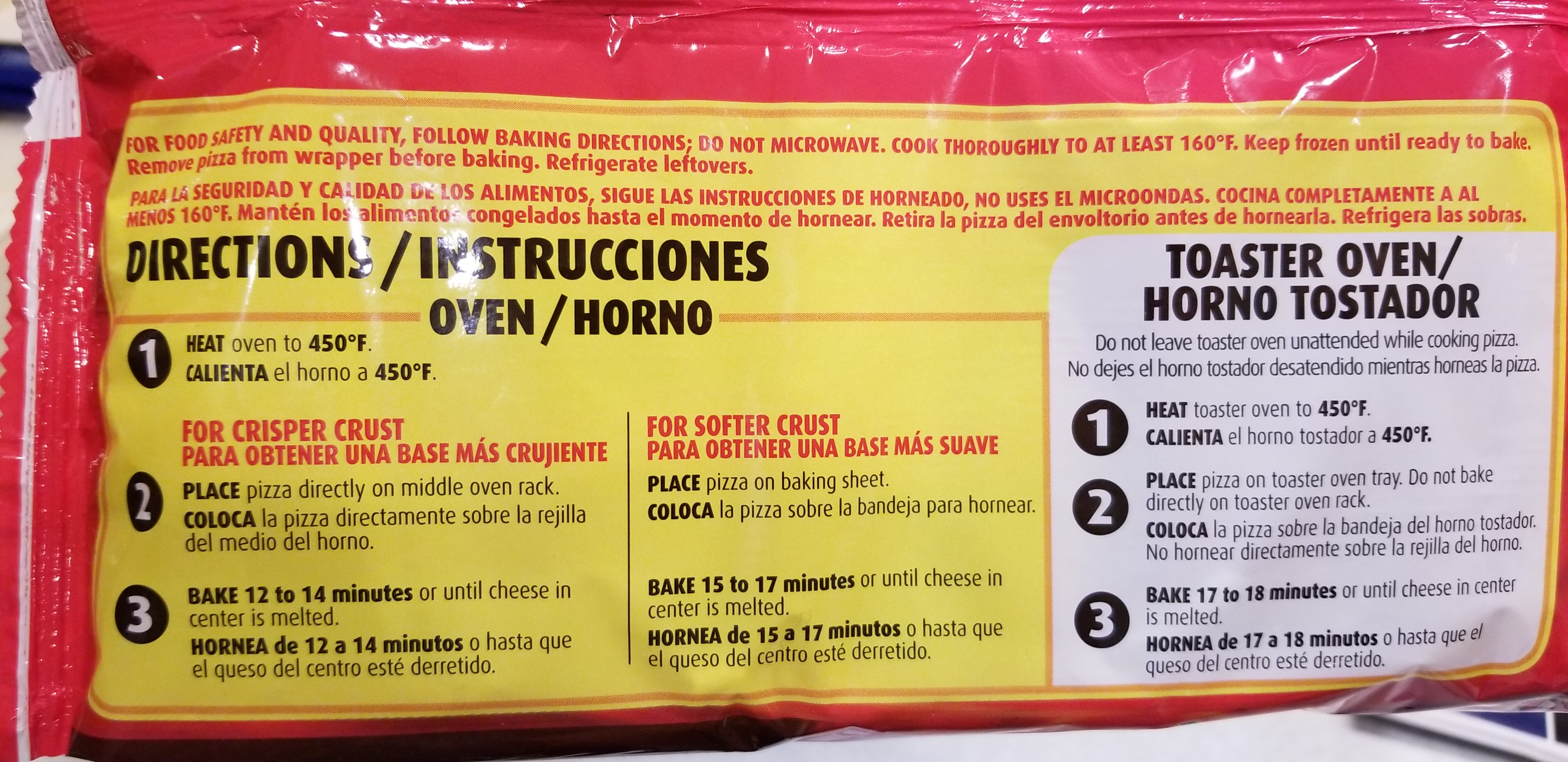 Totino's Party Pizza Hamburger Cooking Instructions