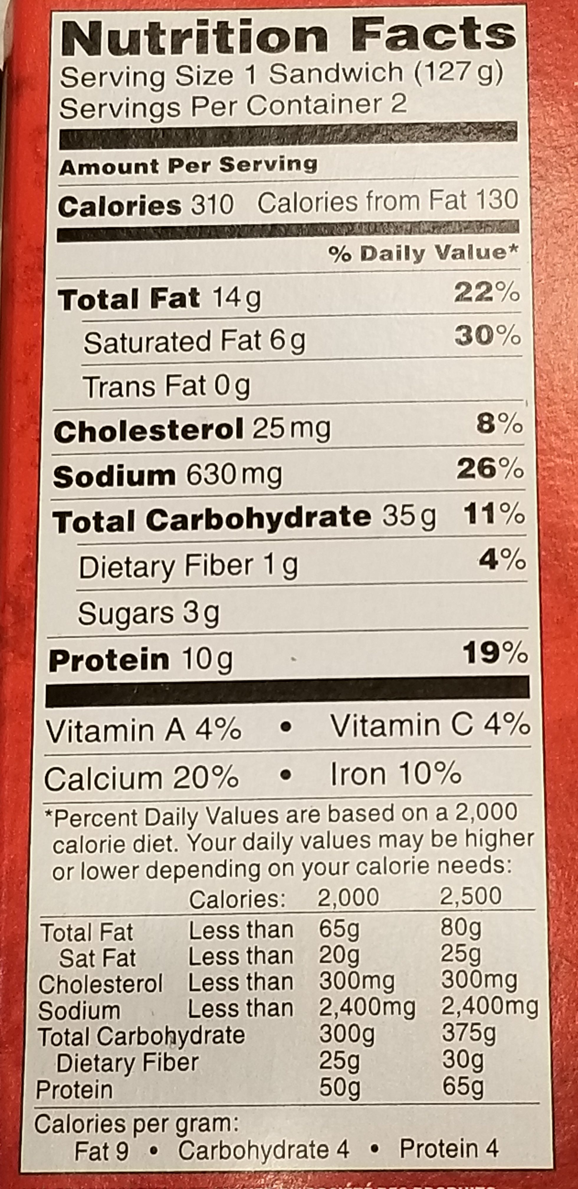 Hot Pockets Premium Pepperoni Pizza Nutrition Facts