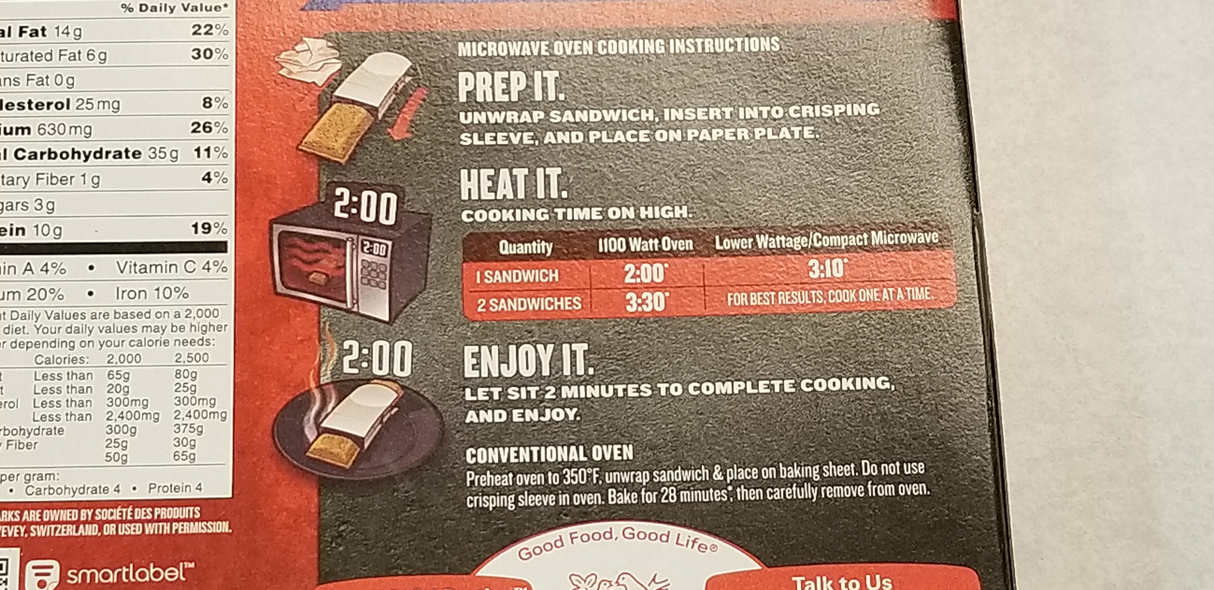 Hot Pockets Premium Pepperoni Pizza Cooking Instructions