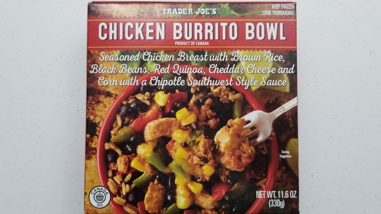 Trader Joe's Chicken Burrito Bowl