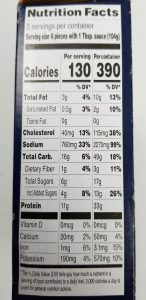 Trader Joe's Chicken Shu Mai Nutrition Facts