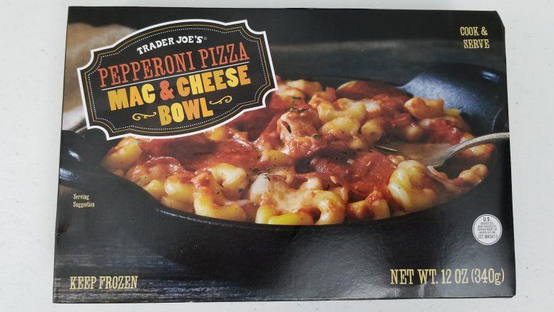Trader Joe's Pepperoni Pizza Mac & Cheese Bowl Review