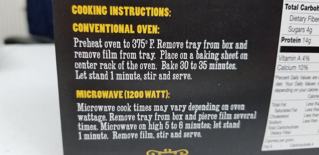 Trader Joe's Pepperoni Pizza Mac & Cheese Bowl Cooking Instructions