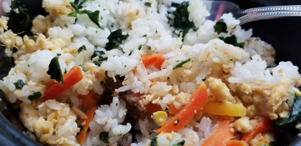 Trader Joe's Bibimbap Bowl Cooked