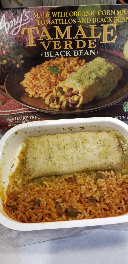 tamale being compared with the picture on the box