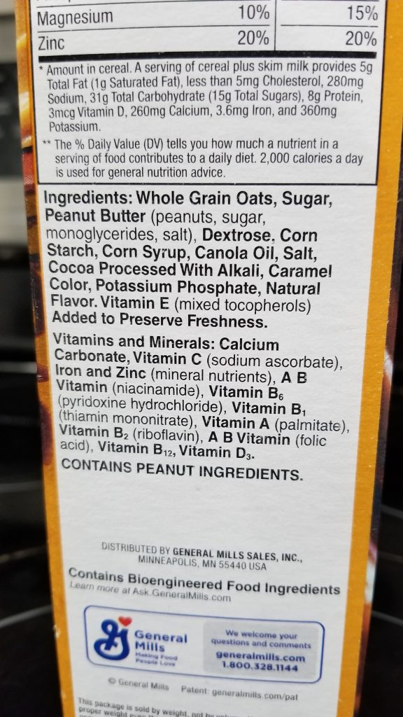 Chocolate Peanut Butter Cheerios Ingredients