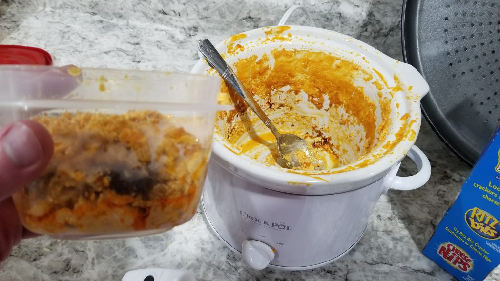 cheese in a tupperware container