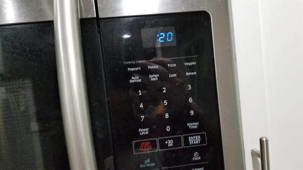 20 seconds microwave