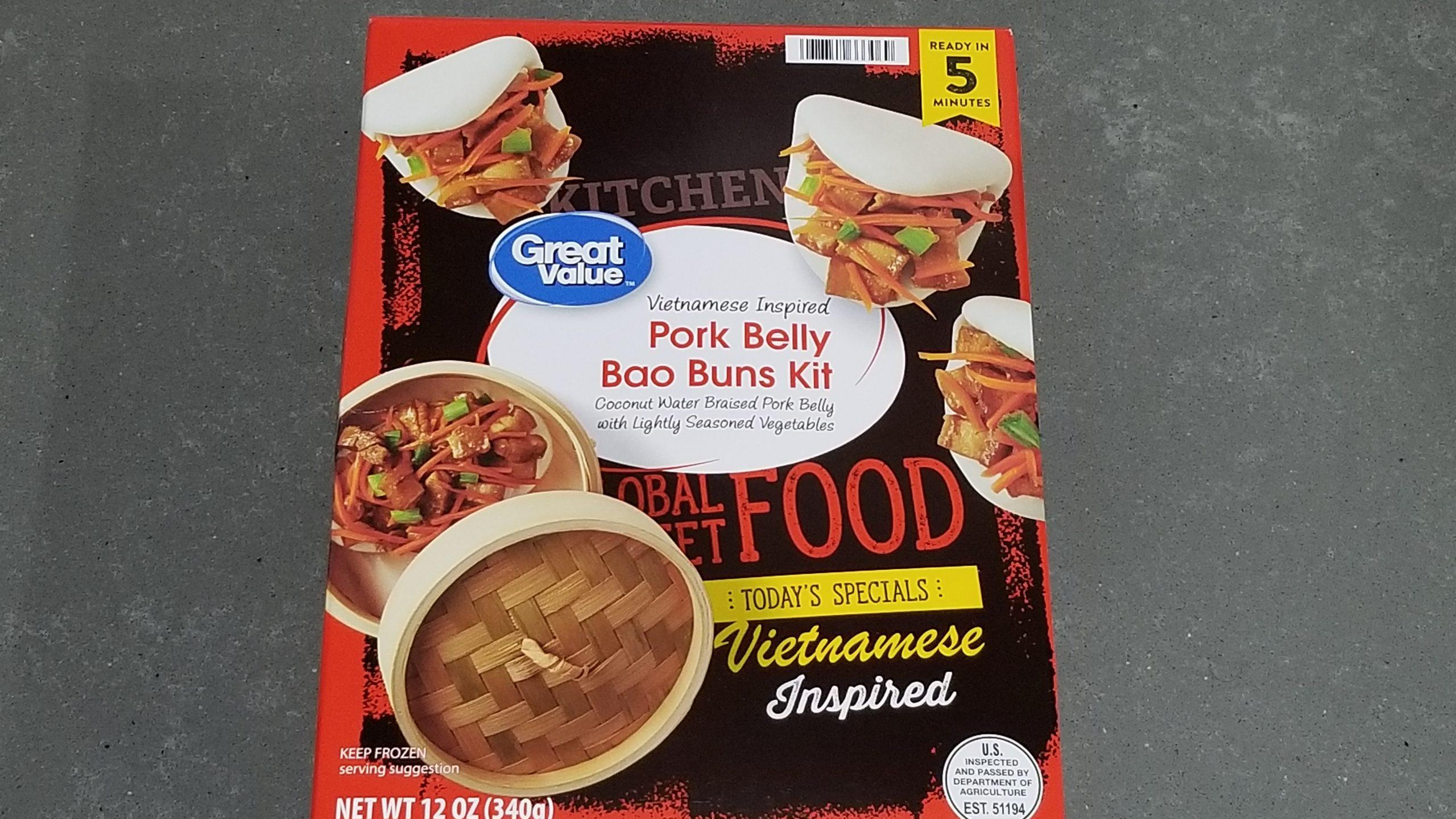 pork belly bao buns from Walmart review