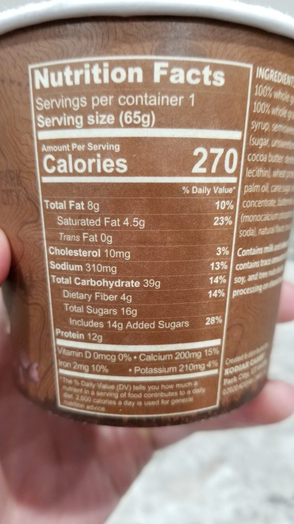 Chocolate Chip & Maple Flapjack Unleashed Nutrition Facts
