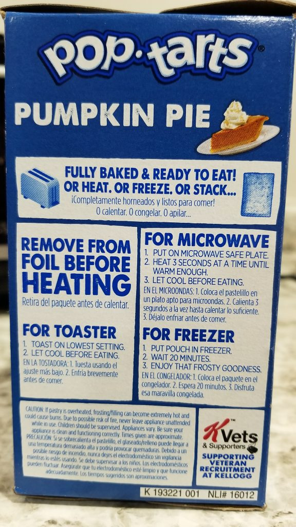 pop-tarts cooking instructions