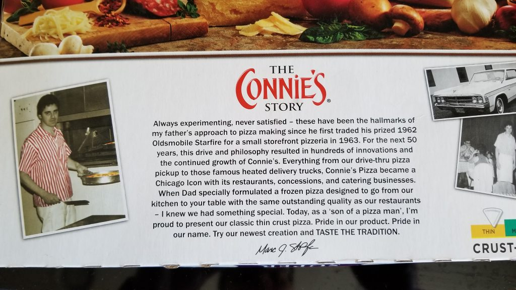 Connie's pizza story