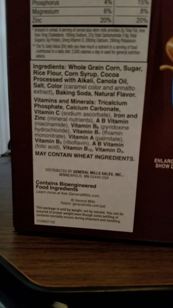 Coco Puffs Ingredients