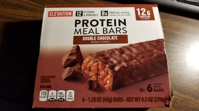 elevation double chocolate protein bars