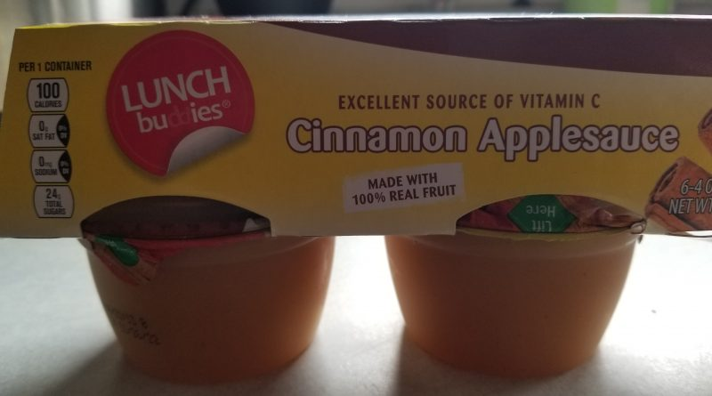 Lunch Buddies Cinnamon Applesauce