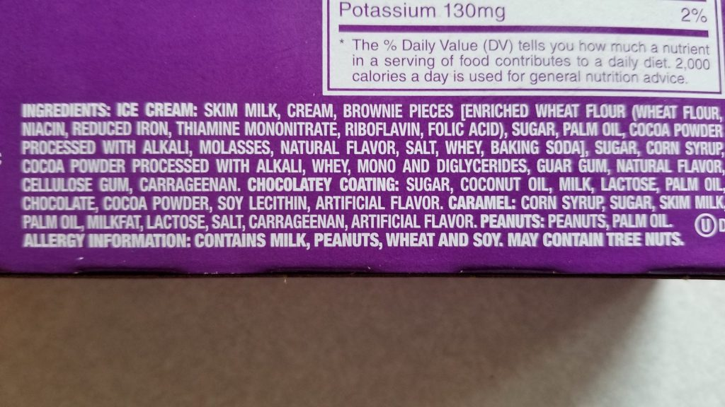 snickers ice cream bar ingredients