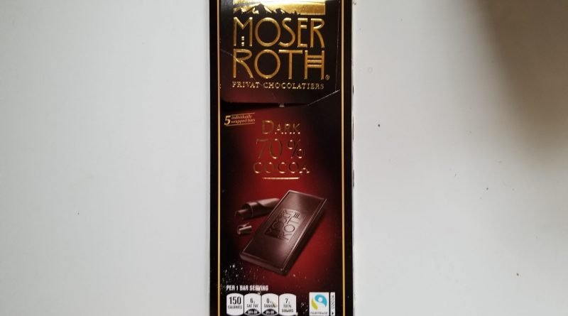 Moser Roth 70% Dark Chocolate review