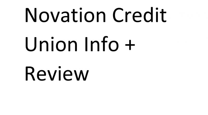 Novation Credit Union Info and review